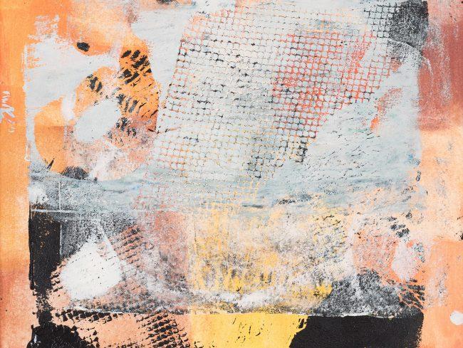 Orange © Tina Steffens 24 x 24cm Passepartout 40 x 40cm (weiß) Druck Acryl auf Papier #Verkauft
