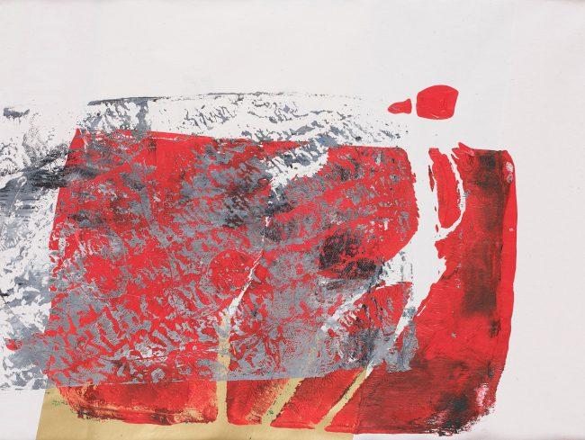 Gold © Tina Steffens 13,8 x 19 Passepartout 24 x 30cm Schwarz Druck Acryl auf Papier